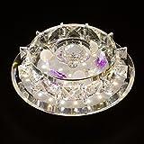 LED Kristall Deckenlampe, SENYANG Mini Stil Modern Décor Kristall Licht Main Warm Licht Hilfslicht Innenbeleuchtung für Korridor, Wohnzimmer, Schlafzimmer, Ausstellungshalle, Balkon (12W)