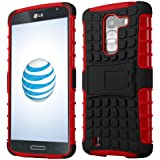 Cruzerlite Spi-Force TPU Case for the LG G Pro 2 - Retail Packaging -Black/Red