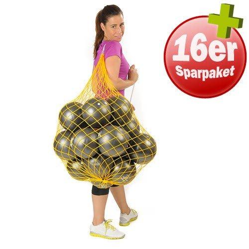TOGU 16 Redondo Bälle 18 cm plus Ballnetz Pilates Gymnastik Soft anthrazit
