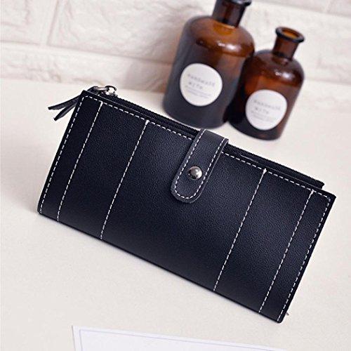 Portafoglio Donna, Tpulling Donna uso quotidiano delle frizioni borsa portafogli borsa della borsa della frizione di qualità (Pink) Black
