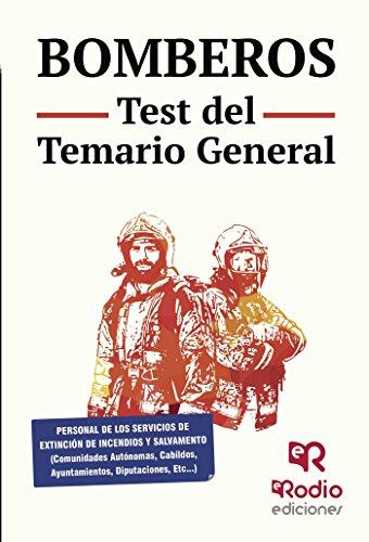 Bomberos. Test del Temario General por Varios autores