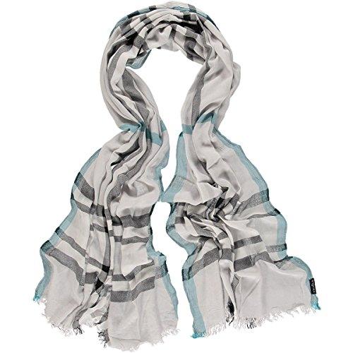 FRAAS Damen Schal 623618, Gr. One size, Grau (Light Grey 950)