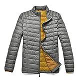 TAK Herren Daunenjacken Leicht Down Jacket Grau Gelb-01 L