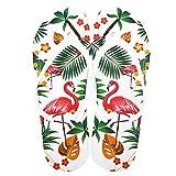 G-Kids Damen Mädchen Fashion Flamingos Zehentrenner Anti-Rutsch Flip Flops Hausschuhe Sandalen Weiß EU 36