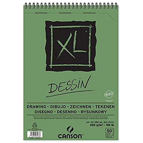 'CANSON bloc dessin xl Schéma, légèrement bouffant. 160g/m², 50feuilles par bloc