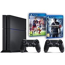Pack PS4 500Go + 2ème manette + Uncharted 4: A Thief's End + Fifa 16