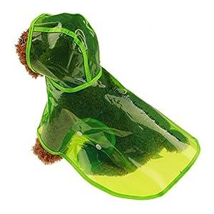?AMUSTER ?Pet Dog Rainwear Imperméable Puppy Veste imperméable pour animaux de compagnie Vêtements à capuche