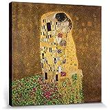 Gustav Klimt - El Beso II Cuadro, Lienzo Montado Sobre Bastidor (70 x 70cm)