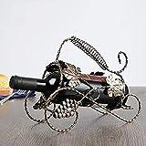 Bouteille de Vin Rack avec, salon moderne Creative Vin Rack simple en fer forgé en acier inoxydable de bar à vin Affichage de rack Grape Leaf 1