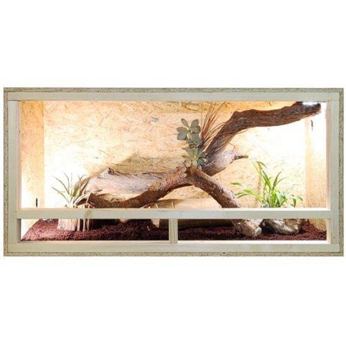 Repiterra® Terrario - Vivario de madera 120x60x60 cm - ventilación lateral - Espesor panel externo 12 mm
