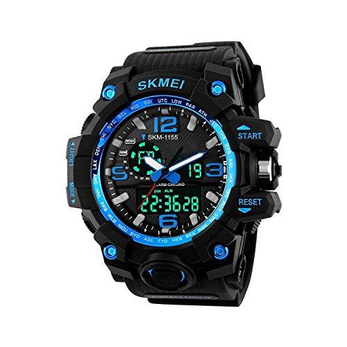 SKMEI Multifunctional Outdoor Sports Dual Time Analog Digital Men's Wrist Watch