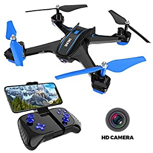 Maxxrace Rc Drone with Camera 720P HD Live Video Quadcopter Toys for Adults Kids Children?2.4GHz 6 Axis Gyro Wi-fi FPV Remote Control Drone Helicopter with 360 Degrees Flipping Flying Toys for Beginners