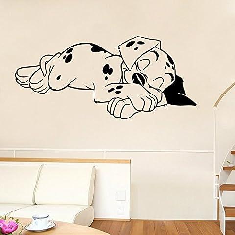 ryedge (TM) Fashion perro Adhesivo decorativo para pared extraíble Funny adhesivo de pared para habitación de los niños dormitorio impermeable decoración del hogar