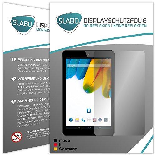 Slabo 2 x Bildschirmschutzfolie Odys Connect (7 Zoll) Bildschirmschutz Schutzfolie Folie No Reflexion|Keine Reflektion MATT - Entspiegelnd MADE IN GERMANY