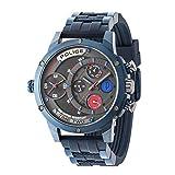 Police Herren Multi Zifferblatt Quarz Uhr mit Silikon Armband 14536JSBL/SM