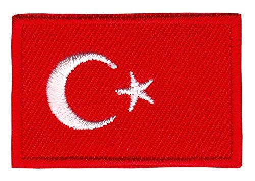Patch Türkei Flagge Klein Turkey Aufnäher Bügelbild Größe 4,5 x 3,0 cm