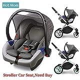 Hot Mom Autoschale Group 0+ entspricht EU standard ECE44, kompatible mit hot mom Kinderwagen modell 889