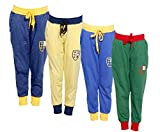 IndiWeaves Boys Premium Cotton Full Length Lower/Track Pant with 2 Open Pocket (Pack of-4)_Blue::Yellow::Blue::Green_Size-5-6 Years