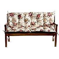 Para Banco de jardín para banco para asiento cojín Balancín 100x 60x 50, flores