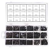460 Federkeile-Sortiment Hohlsplinte-Sortiment E-Clips-Sortimetn Seegerring Sprengring-Sortiment für Werkstatt oder Garage (im Aufbewahrungsbox/Sortimentsbox)