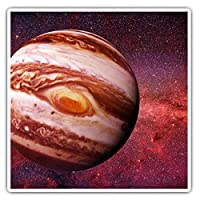 Awesome Square Stickers (Set of 2) 7.5cm - Planet Jupiter Solar System Space Fun Decals for Laptops,Tablets,Luggage,Scrap Booking,Fridges,Cool Gift #15898