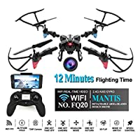 LITEBEE DIY WIFI Selfie Drone 720P HD Camera, DIY Drone Kit (Altitude Hold, 12 Minutes Flying Time, G-Sensor Mode, 360-Degree Rotations, Headless Mode) FQ777 FQ20W DIY Drone Beginners Kids