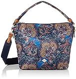 Oilily Damen Picnic Shoulderbag Lhz Schultertasche, Blau (Nightblue), 13x26x33 cm