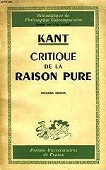 Critique de la Raison Pure de Emmanuel Kant