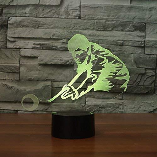 Billard-licht (Optische Täuschung 3D Billard Nacht Licht 7 Farben Andern Sich USB Adapter Touch Schalter Dekor Lampe LED Lampe Tisch Kinder Brithday weihnachten Geschenk)