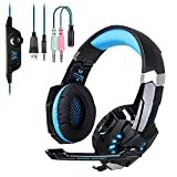 Gaming Headset with Mic for PS4 PC, EasySMX 2017 New 3.5 mm Professional Game Headsets for Laptop Tablet Mac Smartphone, Microsoft Adapter Needed if for Xbox One