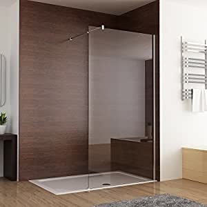 duschabtrennung walk in duschwand seitenwand dusche 10mm glas duschtrennwand 70 x 200 cm amazon. Black Bedroom Furniture Sets. Home Design Ideas
