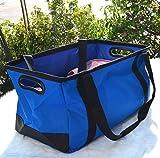 YZ-YUAN Kofferraumtasche, Wasserdichte Faltbare 3 in 1, Kofferraum Organizer, Auto und Werkzeug Organizer, Outdoor & Indoor (Blau)