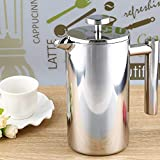 Torque Traders Polish Process 1000Ml Stainless Steel Cafetiere French Press With