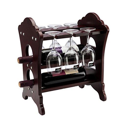 MinMin Weinregal - weinregal Europäischen kreative weinregal Holz Mode weinflasche Rack getränkehalter hochwertigen holzregal Dekoration (größe 33 cm X 26 cm X 36 cm) Weinlagerung
