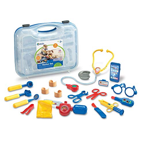 Learning Resources Pretend & Play Doctors Set - Multi-Coloured Complete Toy Dr Medical Kit for Kids