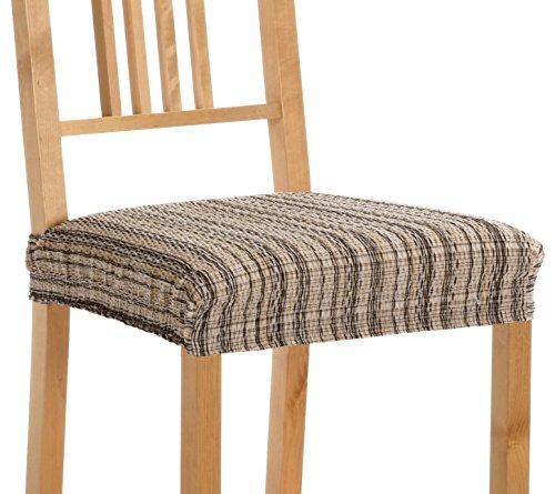 Pack de 2 Fundas de Asiento para silla modelo MEJICO, color MARRÓN, medida 40-50 cm ancho.