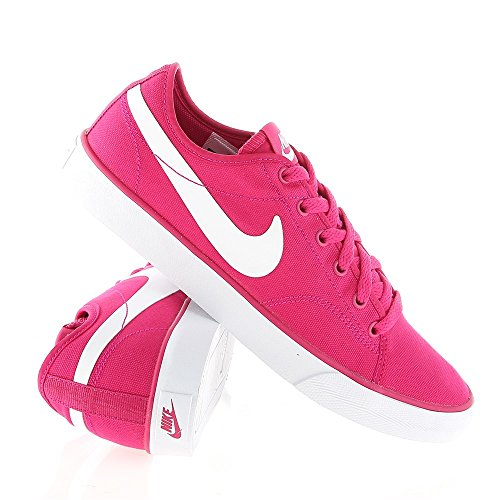 Nike Wmns Primo Court Canvas, Chaussures de Sport Femme Rose - Fireberry/Wht
