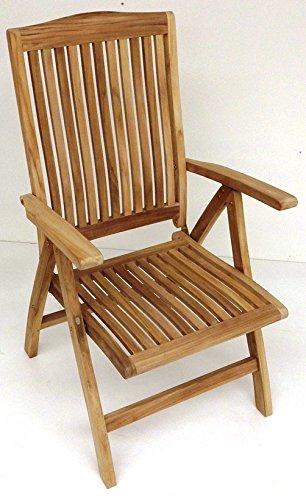 BEHO Natürlich gut in Holz ! 2 Hochlehner ergo 5fach verstellbar 63x70x110 cm Teakholz selected Kernholz unbehandelt zusammengebaut