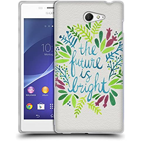 Official Cat Coquillette Future is Bright Multi Quotes Typography 1 Soft Gel Case for Sony Xperia