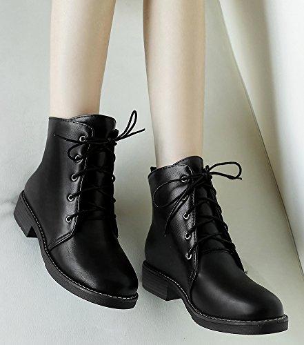 0f57f4b50ca0fd Mode Rangers Talon Petit Noir Désert Boots Lacets Femme Bottes Low Aisun À  Chunky wqO1a5BxCc