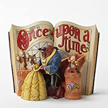 Disney Tradition 4031483 Once Upon a Time La Belle & La Bestia Resina, Design di Jim Shore, 18 cm
