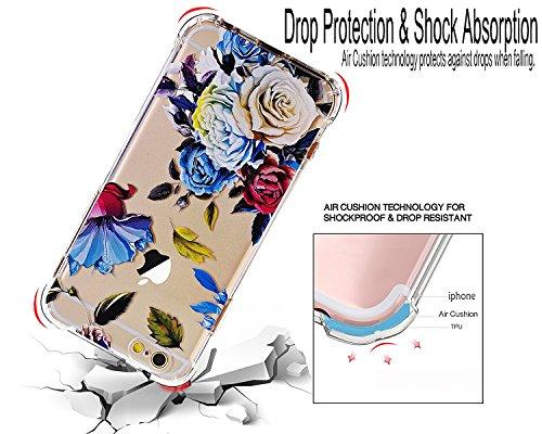 iPhone 6 Hülle,iPhone 6s Hülle, LUOLNH Weiß Schwarz Marmor Serie Flexible TPU Silikon Schutz Handy Hülle Handytasche HandyHülle Etui Schale Case Cover Tasche Schutzhülle für iPhone 6/6s Blau