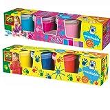 SES 00305 00304 8er Set Kinder Fingermalfarben auswaschbare Fingerfarben Farbset