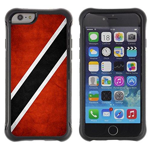 Graphic4You Vintage Uralt Flagge Von Jamaika Jamaikaner Design Shockproof Anti-Rutsch Weichen Hülle Case Tasche Schutzhülle für Apple iPhone 6 / 6S Drapeau Trinidadien Trinidad