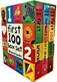 First 100 Collection 3 Books Box Set by Roger Priddy (First 100 Soft to Touch Board Books) (First 100 Words, Numbers Colours Shapes, Animals)
