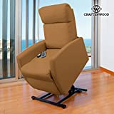 Poltrona relax massaggiante alzapersone craftenwood compact camel 6006 (1000045206)
