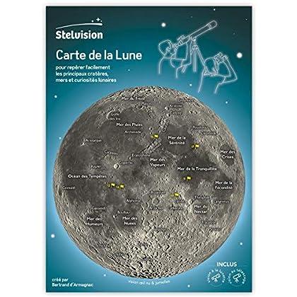 Carte de la Lune: Pour repérer facilement les principaux cratères, mers et curiosités lunaires