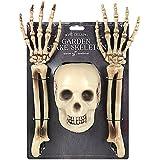 Halloween estaca de jardín skeleton- enterrado esqueleto huesos
