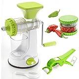 MR Fruit Vegetable Hand Juicer, Multi Crusher And Veg Cutter Combo (Green)