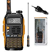 Baofeng GT-3TP Mark-III 8W/4W/1W UHF VHF Dual Band Two Way Radio Handheld Transceiver with Car Charger and Antenna